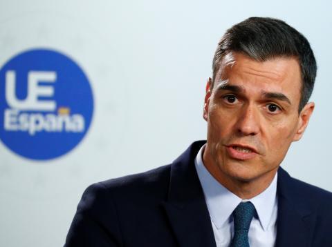 Pedro Sánchez, en una conferencia de prensa tras una reunión del Consejo Europeo.