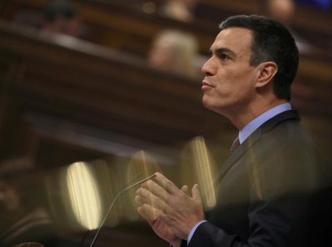 Pedro Sánchez en una sesión del Congreso