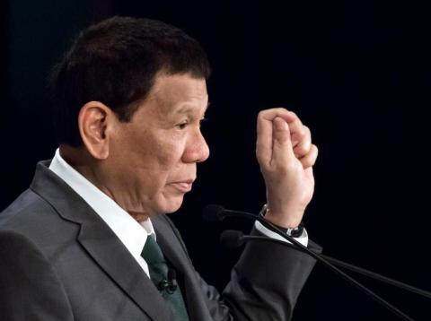 El presidente de Filipinas, Rodrigo Duterte, en una conferencia en Tokio, Japón, el pasado 31 de mayo de 2019.