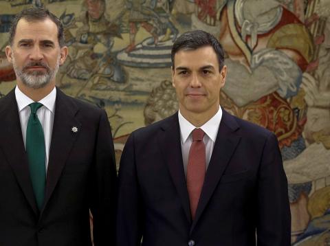 El Rey Felipe VI y Pedro Sánchez