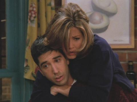Ross y Rachel de Friends.