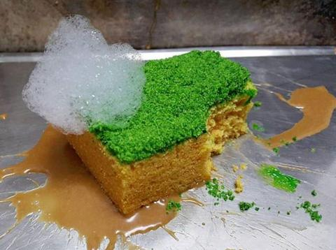 """This """"sponge"""" is entirely edible."""