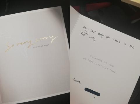 La tarjeta de condolencias que se ha vuelto viral