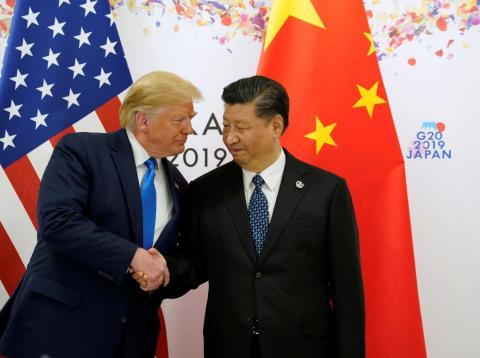 U.S. President Donald Trump shakes hands with China's President Xi Jinping before starting their bilateral meeting during the G20 leaders summit in Osaka, Japan, June 29, 2019