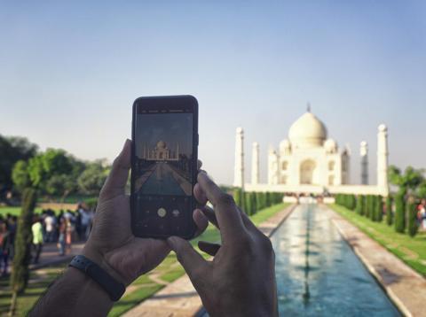 No se pueden hacer fotos dentro del Taj Mahal.