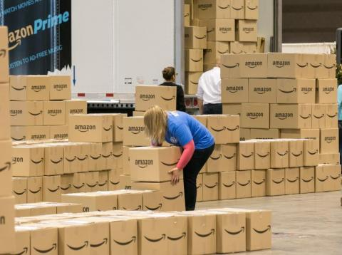 Amazon warehouse.