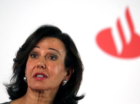 Ana Botín, en una presentación de resultados.
