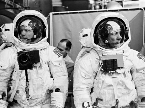 Apollo 11 astronauts Neil Armstrong and Buzz Aldrin.