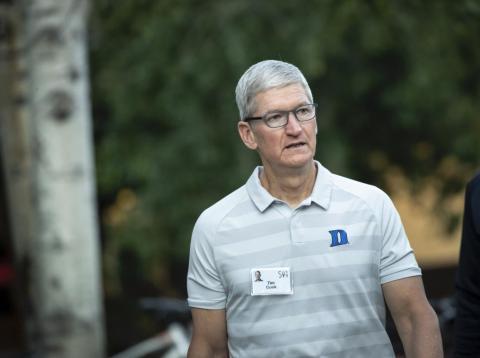 El CEO de Apple, Tim Cook, presentó este martes unos resultados trimestrales mejores de lo esperado.