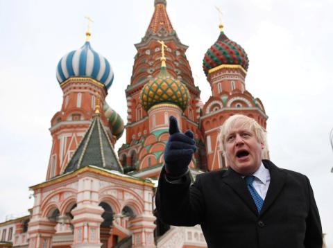 Boris Johnson, durante una visita a Moscú