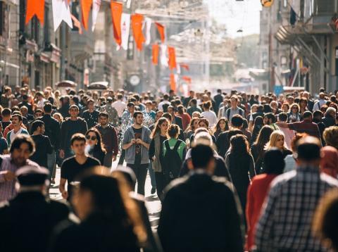 Calle masificada