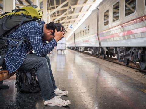 Esperando tren