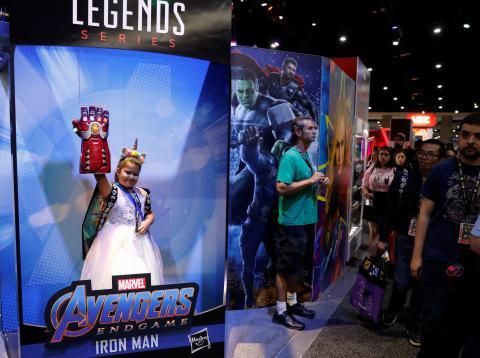 Fans visitan la Comic Con de San Diego, en California.