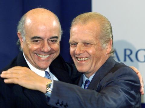 Francisco González y Emilio Ybarra, en 1999