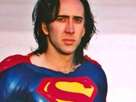 Nicolas Cage como Superman en la cancelada película de Tim Burton