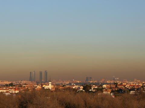 La nube de contaminación sobre Madrid