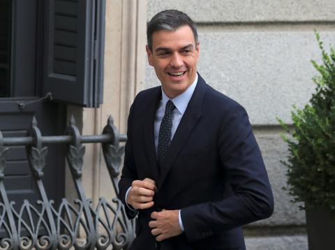Pedro Sánchez llega al Congreso de los Diputados.