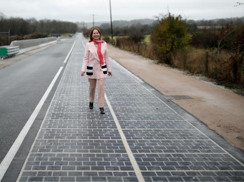 Solar road normandía