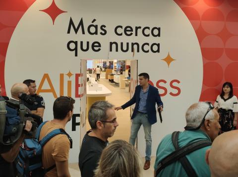 AliExpress Plaza en Madrid, en el momento de su preapertura.