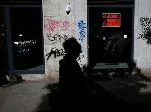 Anuncio de un piso en alquiler en un portal en Madrid