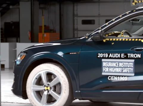 Audi e-tron 2019  es el coche eléctrico más seguro de 2019