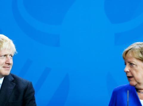 Boris Johnson and Angela Merkel