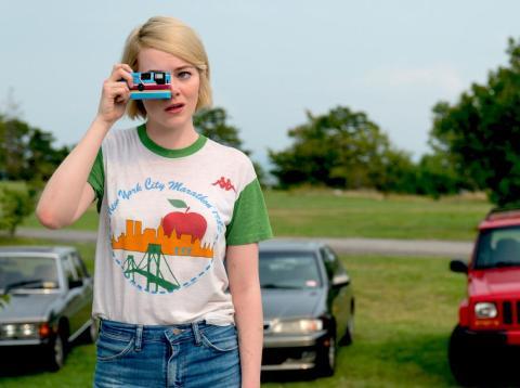 "Emma Stone as Annie on Netflix's sci-fi series ""Maniac."""