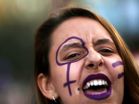 Una imagen de la manifestación del 8M en Madrid.