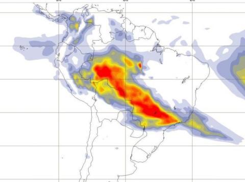Las imágenes de los satélites de la Unión Europea muestran que el humo de los incendios en la selva amazónica se propaga por todo Brasil y hacia otros países.