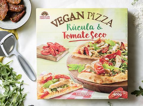 Mercadona vegan pizza