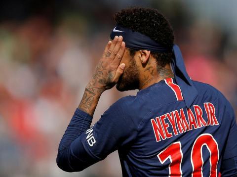 Neymar, delantero del PSG.