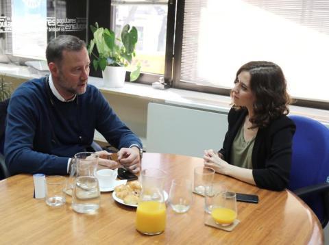 Pedro García Aguado e Isabel Díaz Ayuso.