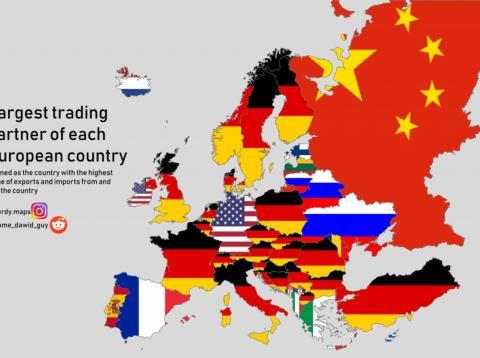 Alemania domina la lista de principales socios comerciales de los países europeos