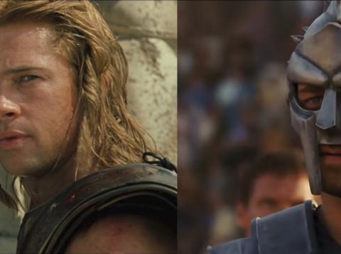 Troya o Gladiator tienen errores de vestuario