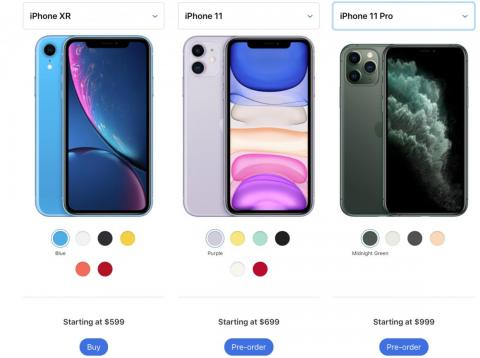 Apple announced three new phones on September 10.