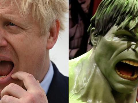 Boris Johnson and the Hulk.