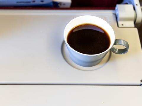 Café en el avión