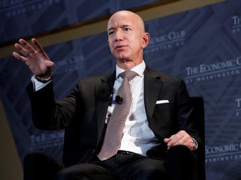 Jeff Bezos, presidente y CEO de Amazon