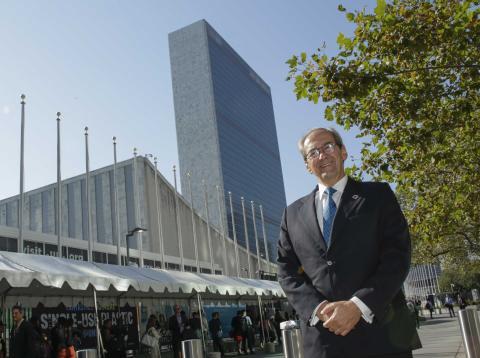 José Manuel González-Páramo, en la sede de las Naciones Unidas en Nueva York.