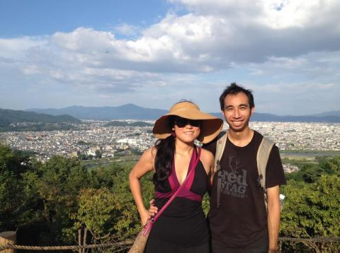 Kristy and Bryce in Japan.