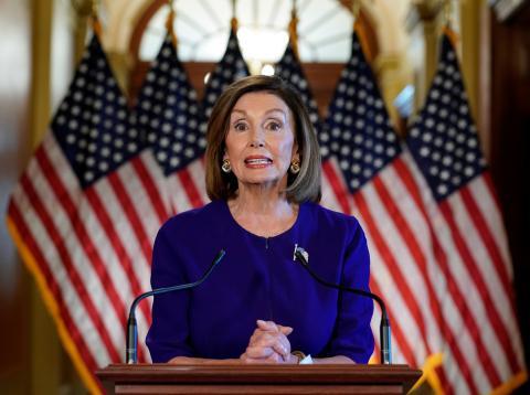 Nancy Pelosi, presidenta de la Cámara de Representantes de los Estados Unidos