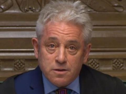 l presidente de la Cámara de los Comunes, John Bercow