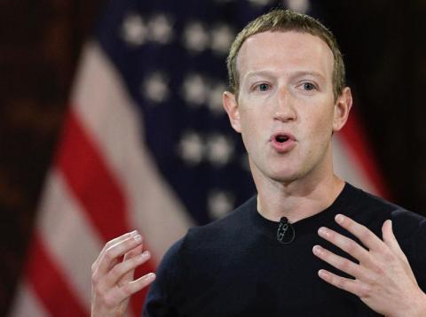 El CEO de Facebook, Mark Zuckerberg, habla en la Universidad de Georgetown, el jueves 17 de octubre de 2019, en Washington.