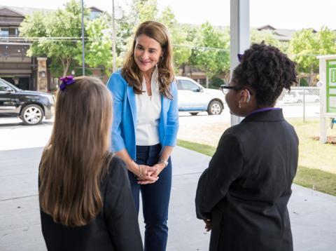 """Gates fue nombrada """"la mujer más poderosa de la filantropía"""" por Forbes en 2018 por su trabajo como copresidenta de la Fundación Bill y Melinda Gates."""