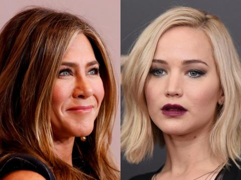 Jennifer Aniston, left, and Jennifer Lawrence have both admitted to having secret Instagram accounts.