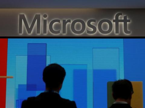 Microsoft share just opened at a record high after beating Amazon to a controversial contract with the Pentagon worth $10 billion