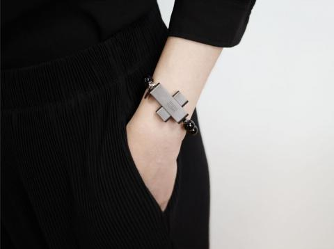 Like other wearables, such as smartwatches, the eRosary is meant to be worn on your wrist.
