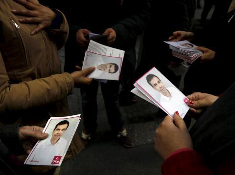 Panfletos de UPyD en las elecciones generales de 2015.