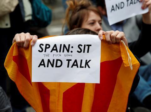 Protestas independentistas en Barcelona tras la sentencia del Tribunal Supremo sobre el procés