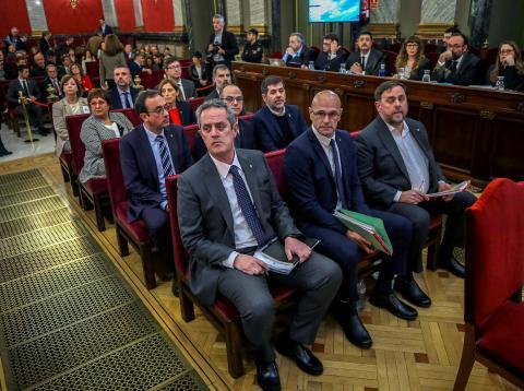 Separatistas en el juicio del 'procés'
